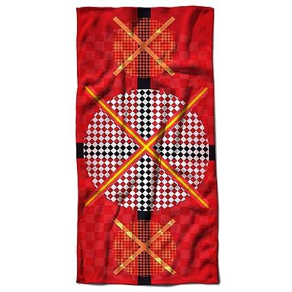 Rojo Cruz patrón votar bandera Flyer toalla de playa | Wellcoda, Microfibra, 70cm x