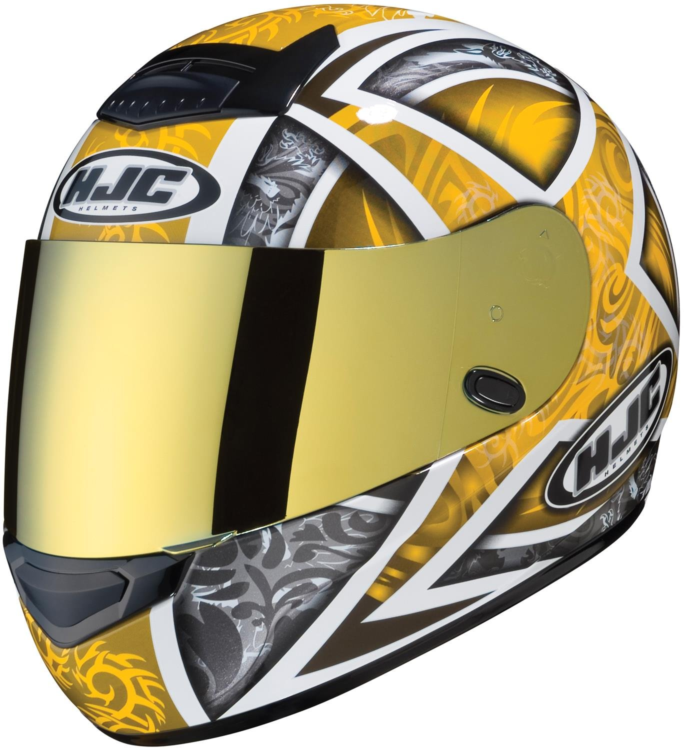 HJC Helmets HJ-17 Unisex-Adult Flip-Up-Helmet-Style Replacement Helmet Face Shield (Gold, One Size) 956-256