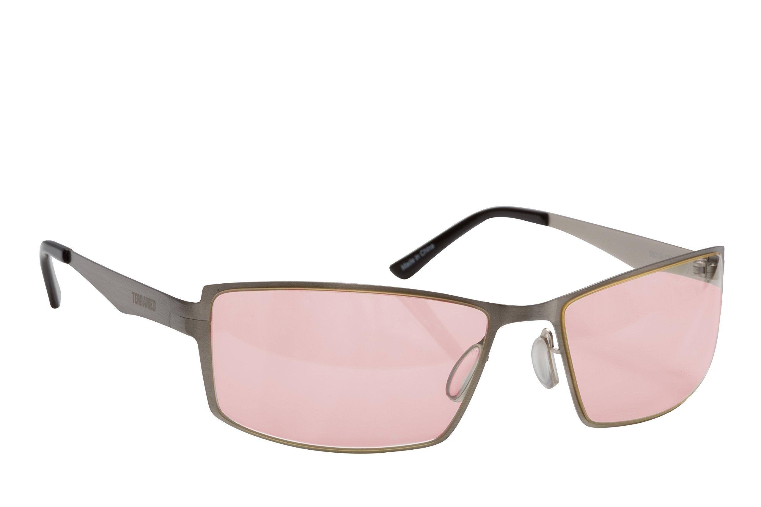 Migraine Glasses for Migraine Relief and Light Sensitivity Relief - Terramed Sparrow Unisex Migraine Glasses Women or Men | Fl-41 Migraine Glasses for Computers Indoor Reading Photophobia Eye Strain by Terramed