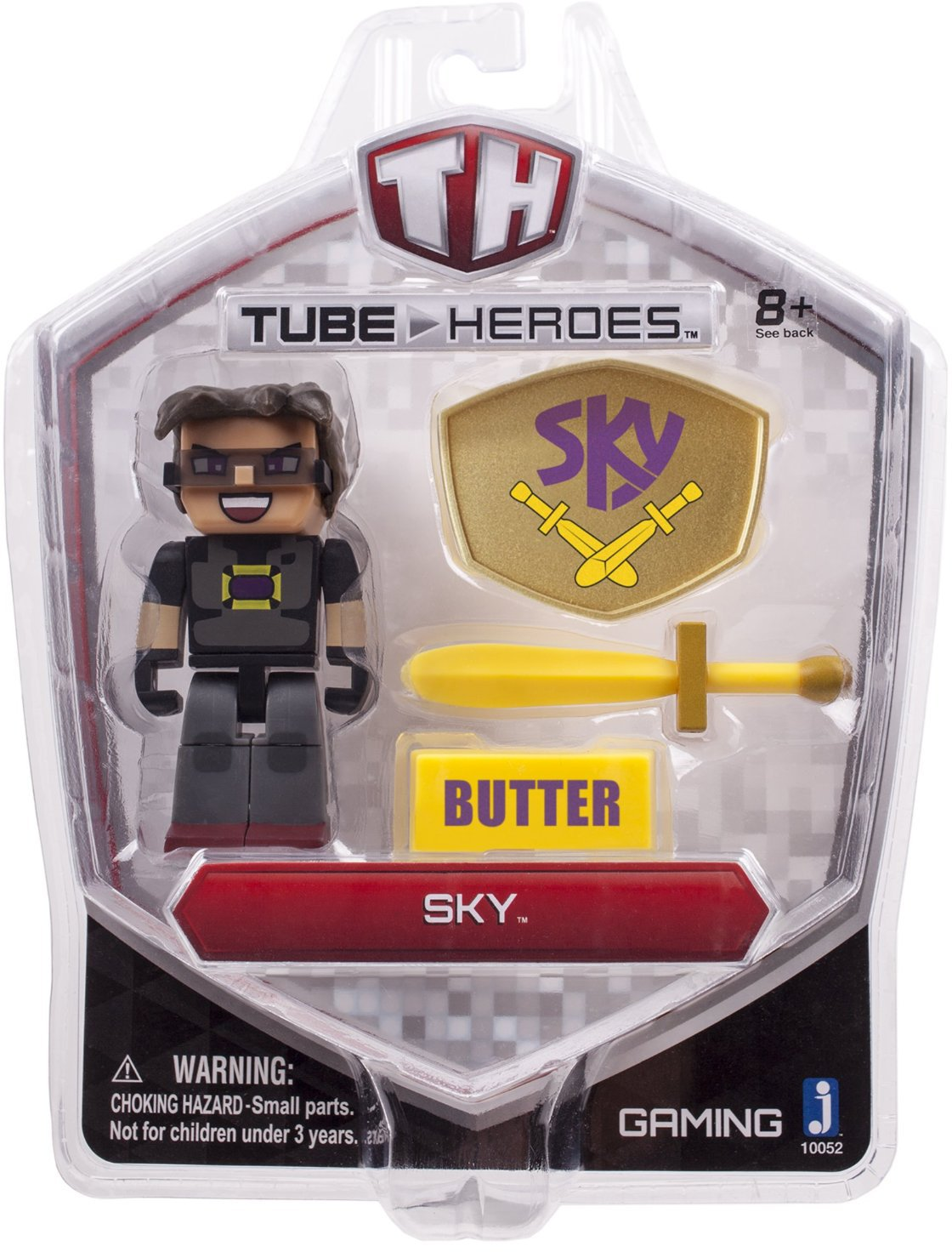 Tube Heroes Mini Action Figure Series Sky 1 FREE Official Minecraft Mini-Sticker Sheet Bundle Jazwares 10052