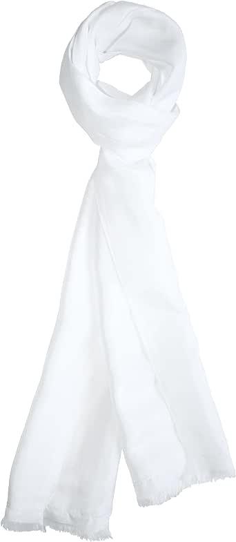 "Dashing White Silk Aviator Scarf by Royal Silk – Pure 100% Silk – 8"" x 60"""