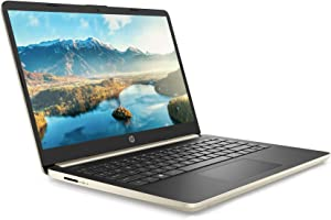 "Newest Flagship HP 14 HD Thin & Light Laptop Computer PC- 14"" Micro-Edge Display 10th Gen Intel Quad-Core i5-1035G1 8GB RAM 256GB PCIe SSD + 16GB Optane BT USB Type-C WiFi HDMI Webcam Win 10 -Gold"