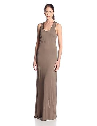 BCBGMAXAZRIA Women's Whitnee Twist Back Maxi Dress, Fatigue, X-Small