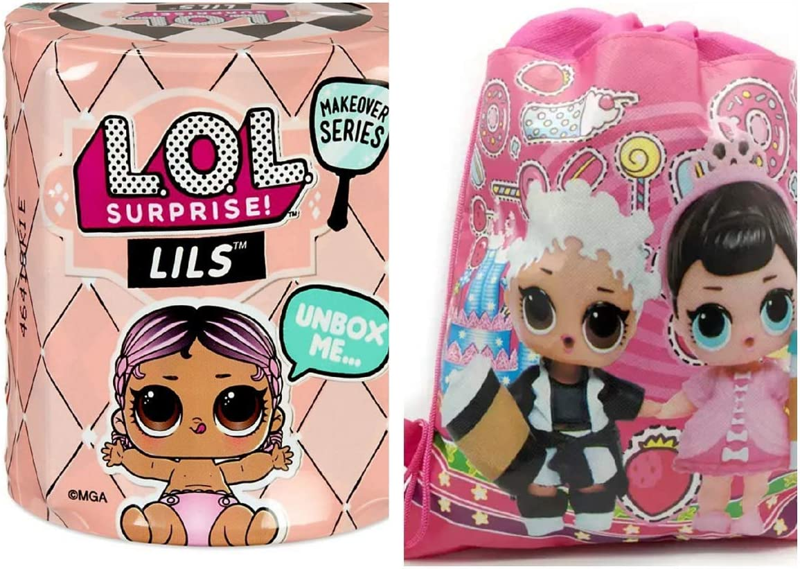 LOL SURPRISE DOLL LIL SISTER SERIES 5 LILS MAKEOVER LEADING BABY /& bag Gift