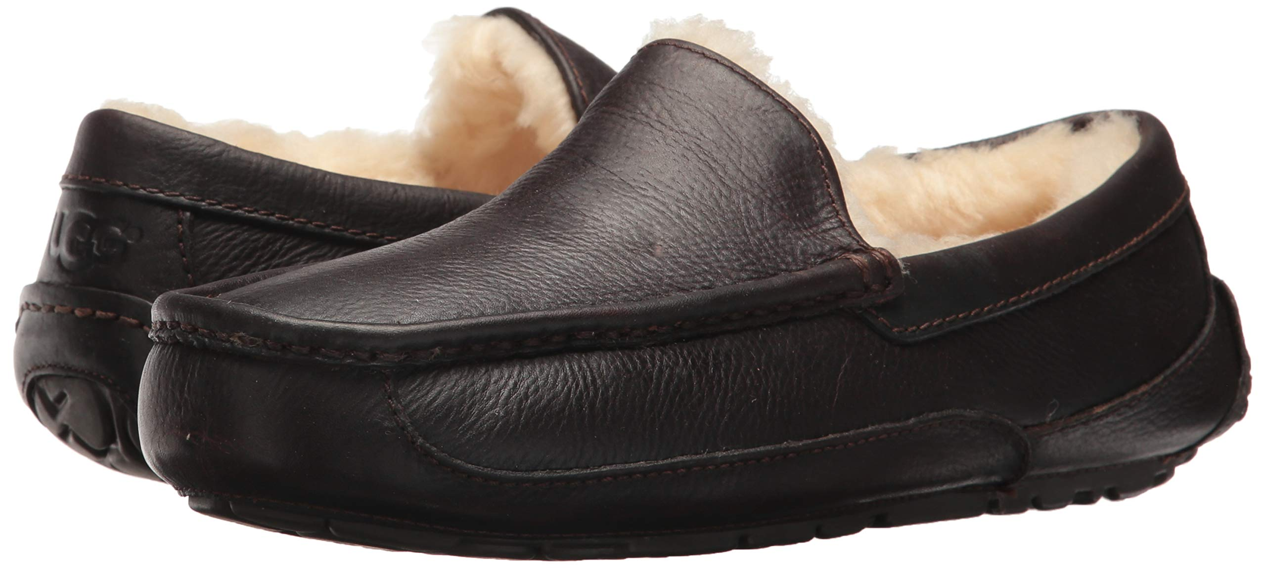 UGG Men's Ascot Slipper, China Tea Leather, 15 M US by UGG (Image #6)