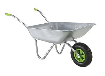 Awesome Wheelbarrow Garden Wheel Barrow , Galvanised With Pneumatic Tyre