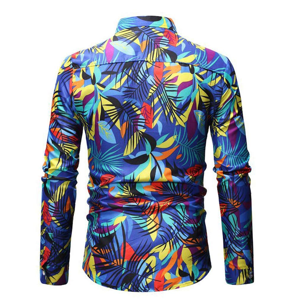 2019 Hot Men Printing Buttons Stand Collar Collar Fit Slim Long Sleeve Blouse Shirt Tee I Like it Dude New