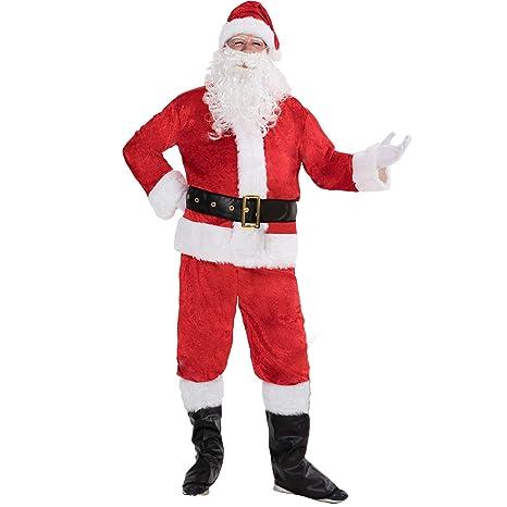 ReneeCho Disfraces de Elfo de Santa 7 Piezas para Hombres Disfraz ...