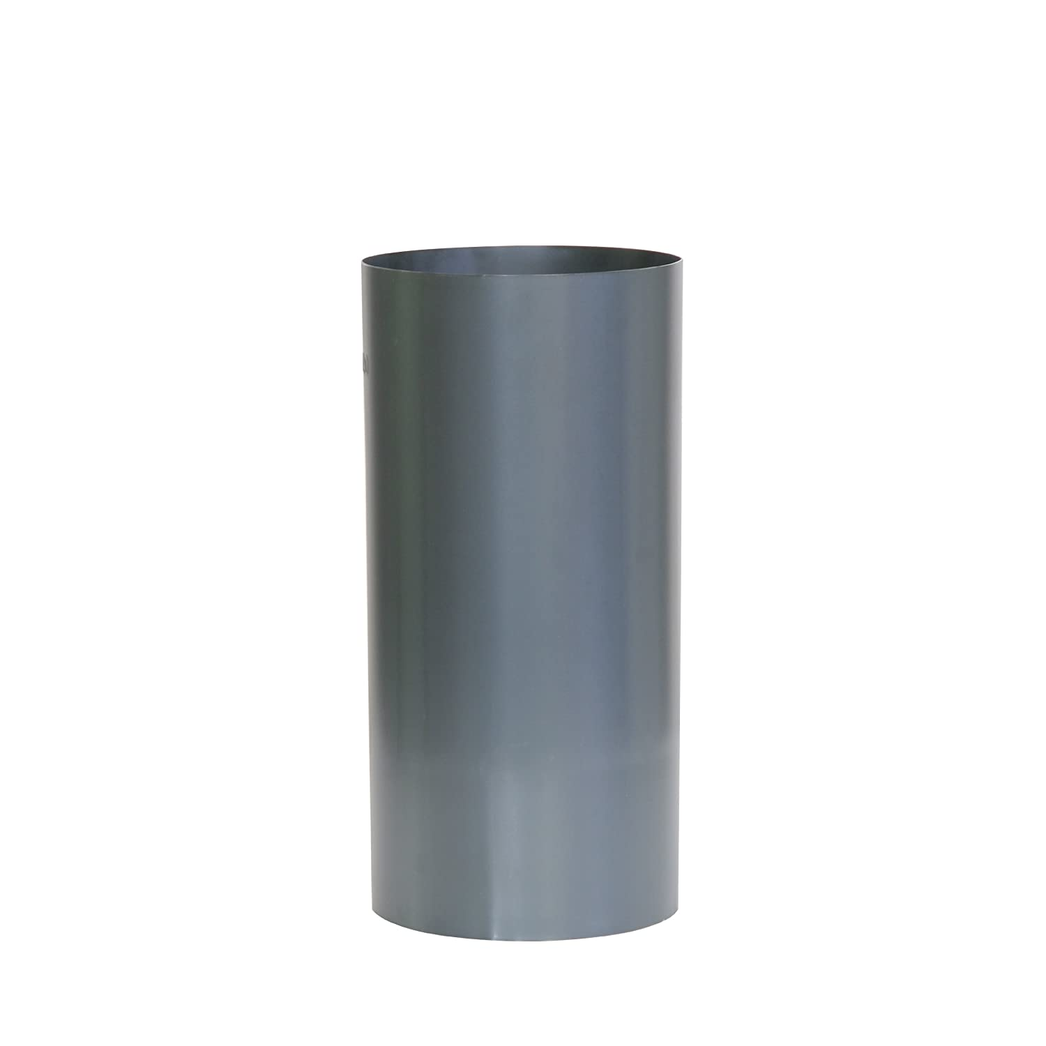 Kamino-Flam Ø 120 mm blue steel, Hot-dip Aluminised (FAL) Steel Stove Pipe, approx. 250 mm Straight Length Chimney Pipe, Flue Pipe for Stoves, Heat Resistant Single Wall Pipe, Silver Kamino - Flam 331545