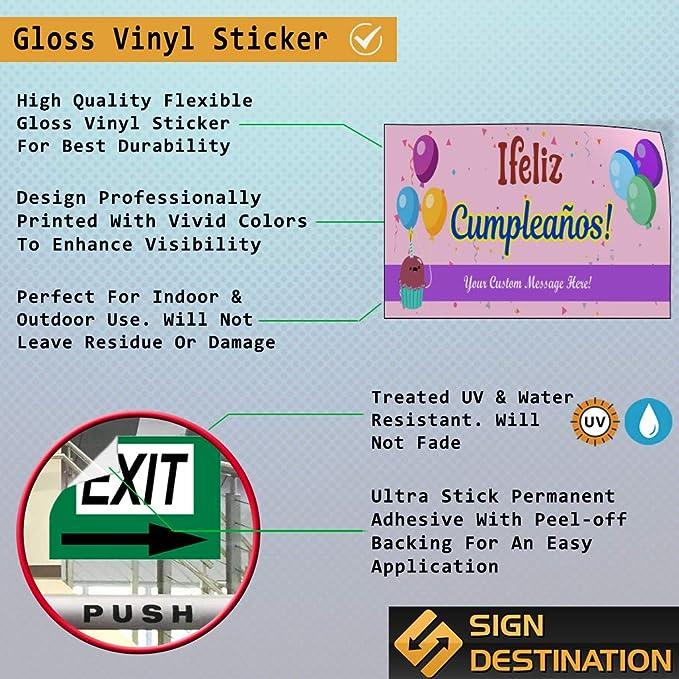 Amazon.com : Custom Door Decals Vinyl Stickers Multiple ...