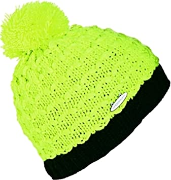 prosport Knitted Beanie Hat Yellow Black Fluorescent Yellow Size Taille  unique a0b670b5eef