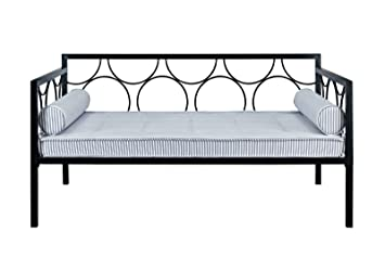 Amazon Com Dhp Rebecca Daybed Metal Frame Twin Size Black
