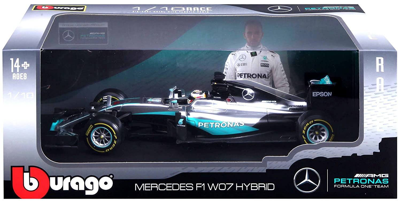 Bburago burago 1/18 Scale 18 - 18001 - Mercedes F1 W07 ...