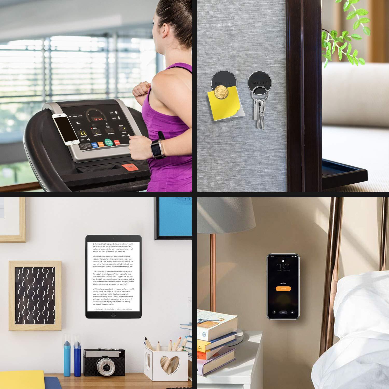 Soporte Tel/éfono Coche para iPhone//Samsung//Echo Dot//LG//GPS Negro MOSUO 2 Pack Soporte Movil Coche Magn/ético Universal Iman para movil Coche para Salpicadero//Pared//Superficies Planas