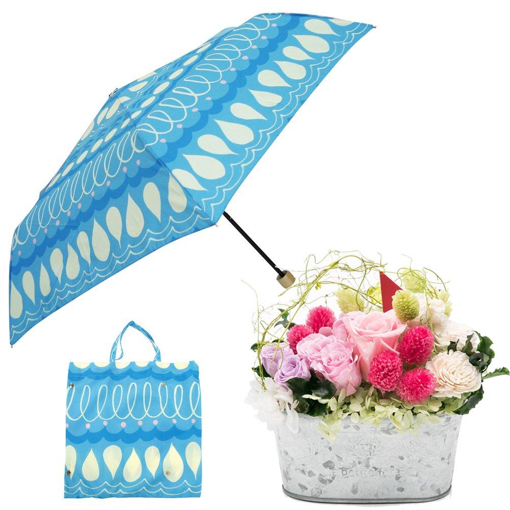 母の日ギフト プリザーブドフラワーと折り畳み傘のギフトセット B07CJF5RLN お花:Lサイズ スカラッピー スカラッピー お花:Lサイズ