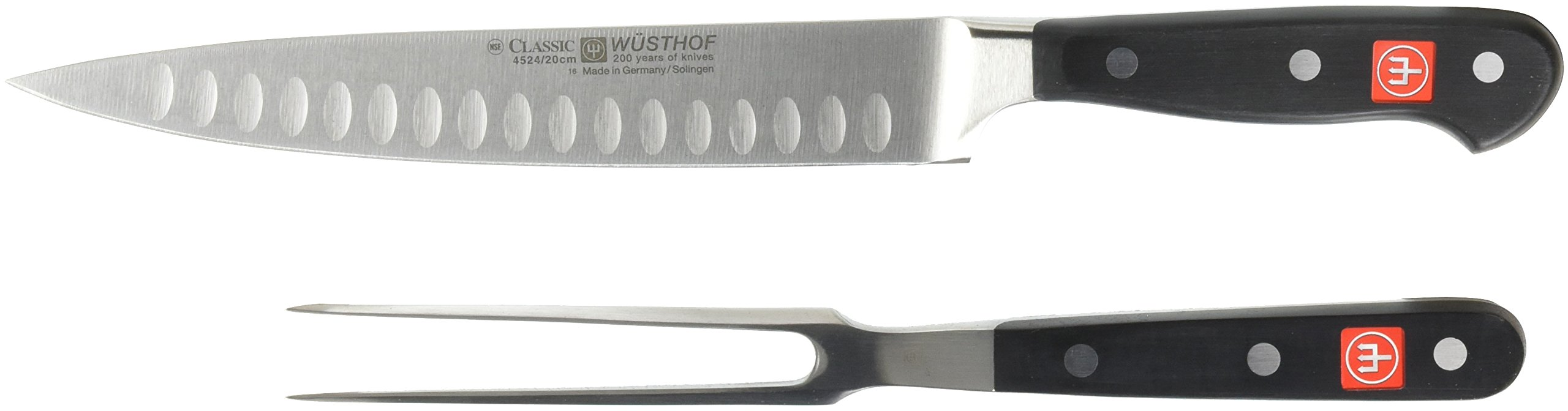 Wusthof 9740-1 CLASSIC Two Piece Carving Set, 2, Black, Stainless Steel by Wüsthof