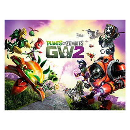 Amazon com: Plants vs  Zombies Garden Warfare 2 Wall Decal: GW2