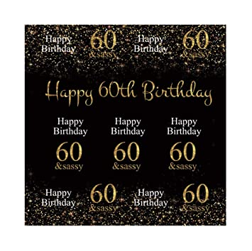 Amazoncom Yeele 4x4ft 60th Birthday Backdrop For Photography