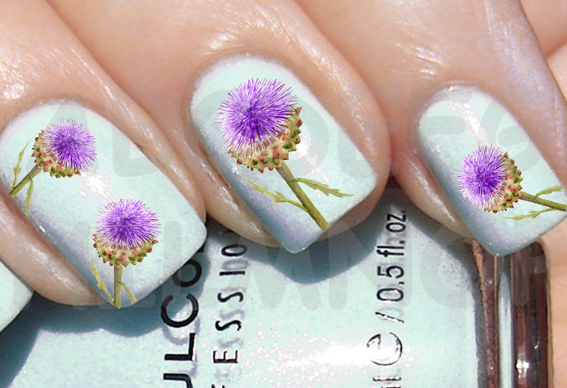 Aws Set Water Blume Violett Pusteblume Lowenzahn Nagel Stickers Nail