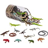 Terra by Battat – Reptiles In Tube – Assorted Reptile Animal Toys For Kids 3+ (60 Pc)