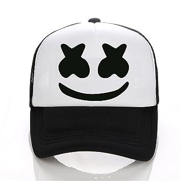03ee4d4af72 Donna Pierce New Arrived marshmello face men baseball cap boy casual homme  cap Black White Hat