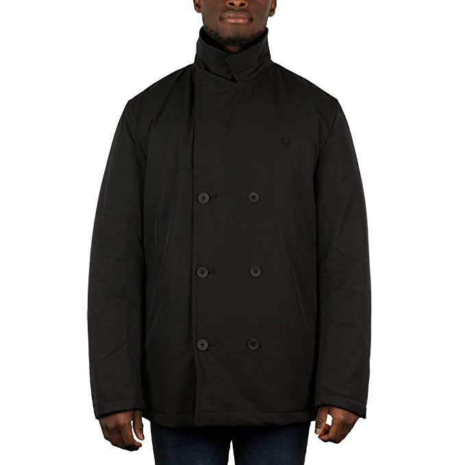 Fred Perry Mens Quilted Pea Jacket: Amazon.es: Ropa y ...