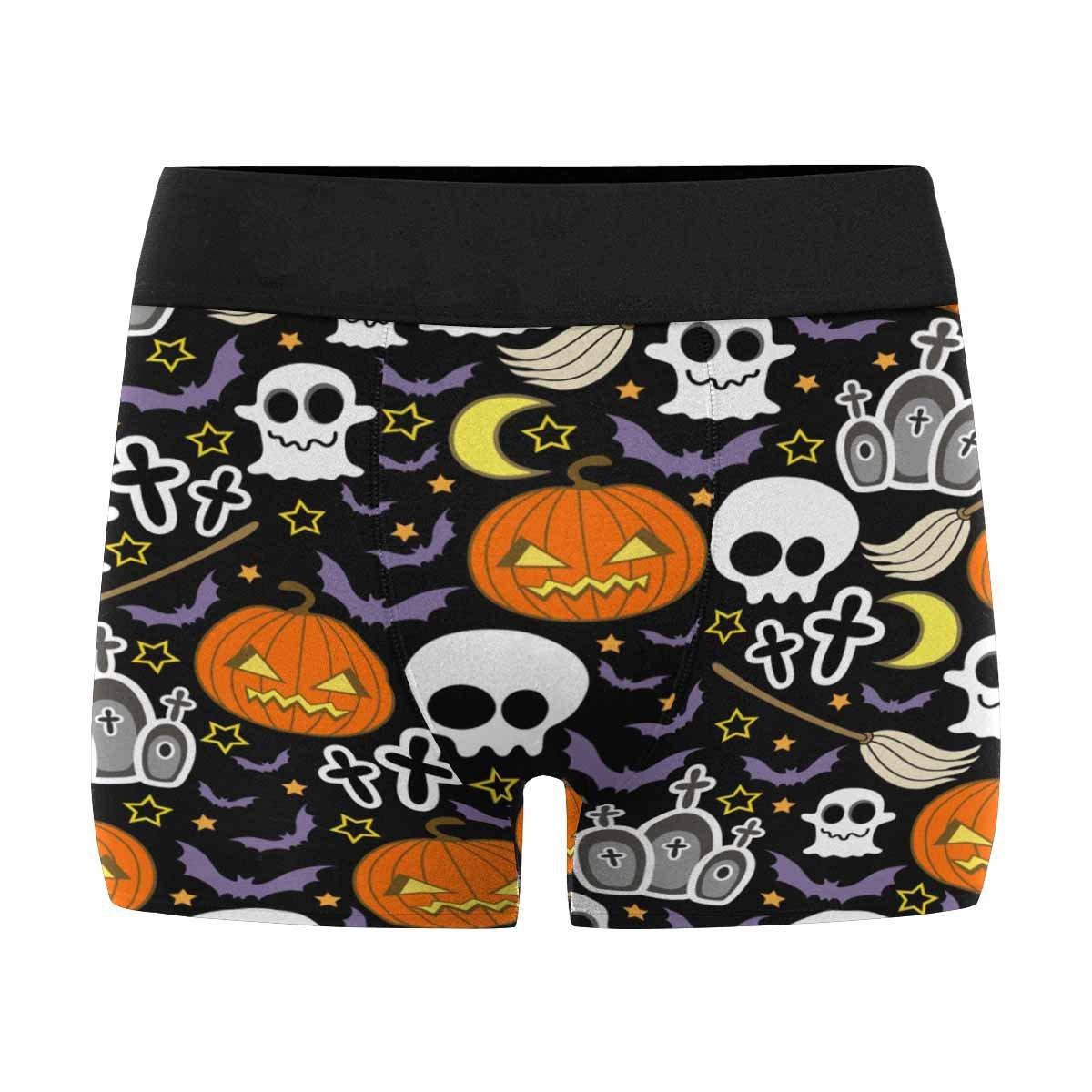 INTERESTPRINT Mens Boxer Briefs Underwear Halloween Photo Art XS-3XL