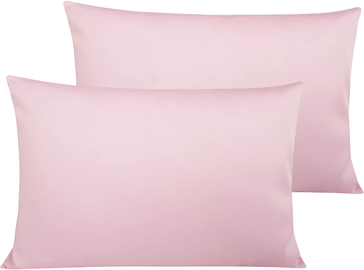 NTBAY 500 Thread Count Cotton Toddler Pillowcases, 2 Pack Travel Pillow Cases, 13 x 18 Inches, Pink