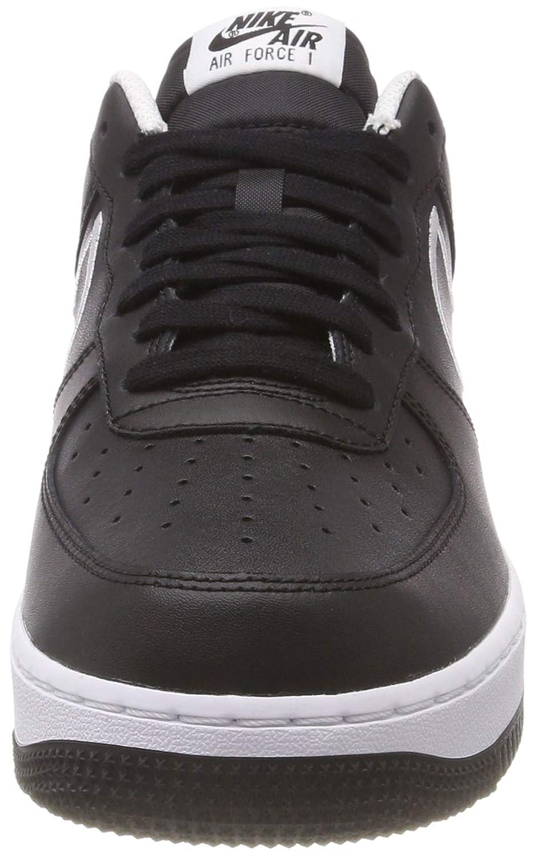 Amazon.com | Nike AJ7280-001: Mens Air Force 1 07 Leather Black/White Sneakers (10 D(M) US Men) | Fashion Sneakers
