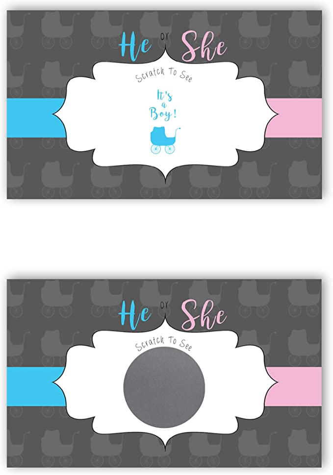 It\u2019s A Boy What Will Baby Be It\u2019s A Girl Pink or Blue Scratch And You Will See Gender Reveal Scratch Off Gender Reveal Card