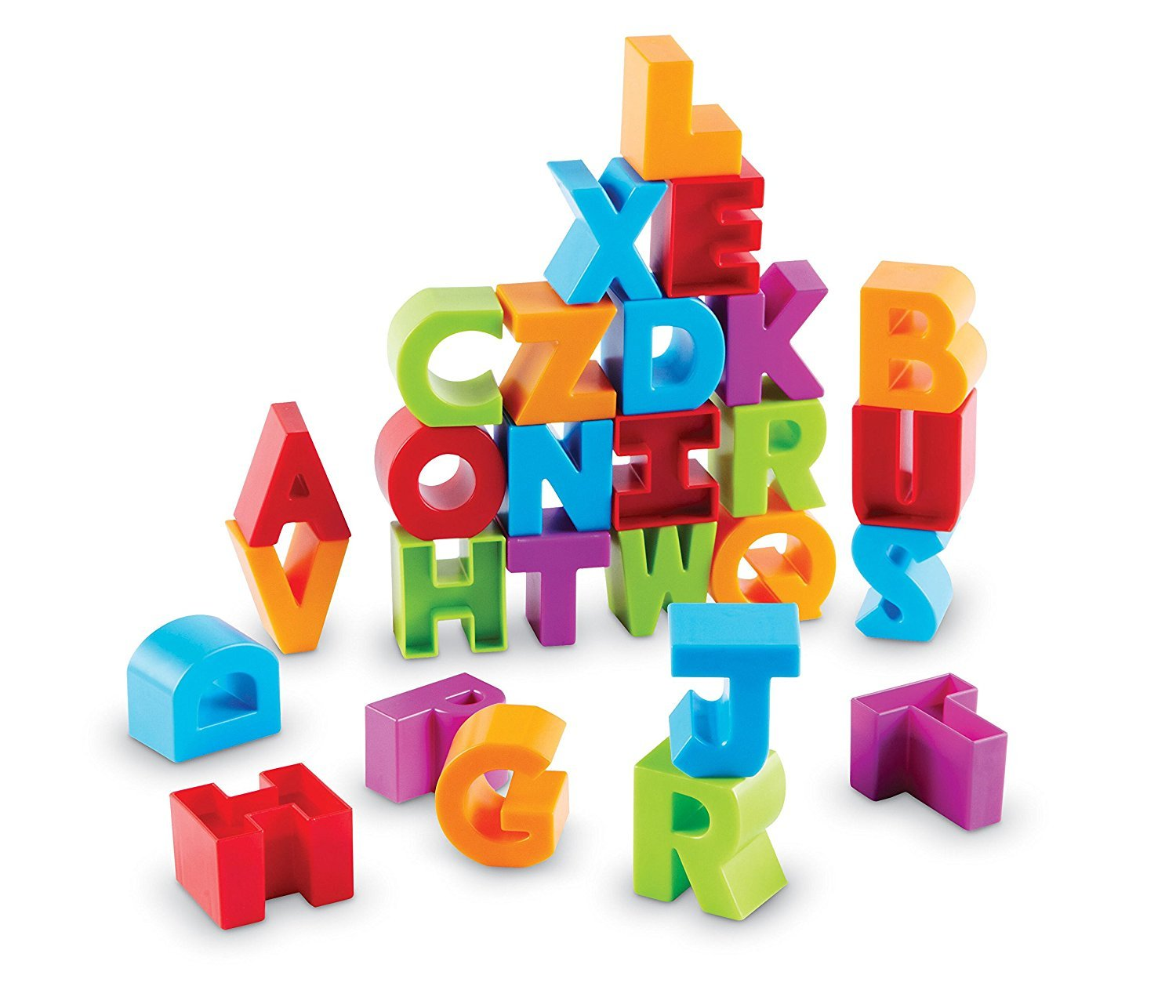 Learning Resources Letter Blocks, Fine Motor Toy, ABCs, Letter Recognition, 36 Pieces, Ages 18 mos+