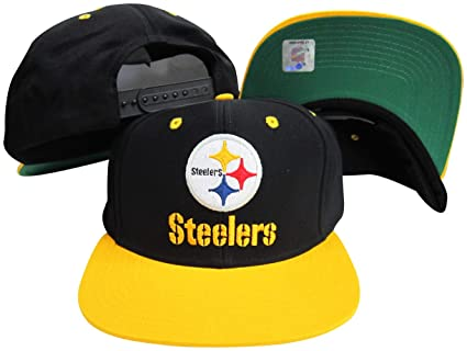 Amazon.com   Pittsburgh Steelers Word Black Yellow Two Tone Plastic ... d0c97594c