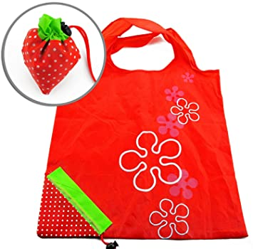 0523158bbe1 Buy LACE AND ME Strawberry Shaped Folding Polyester Shopping Bag - Set of 2  Online at Low Prices in India - Amazon.in
