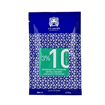 Valquer Profesional Oxigenada Premium Ultra-Cremosa 10 Vol (3%). Agua Oxigenada Para Tintes. Coloración Capilar Permanente - 60 Ml X 120 Uds 800 g
