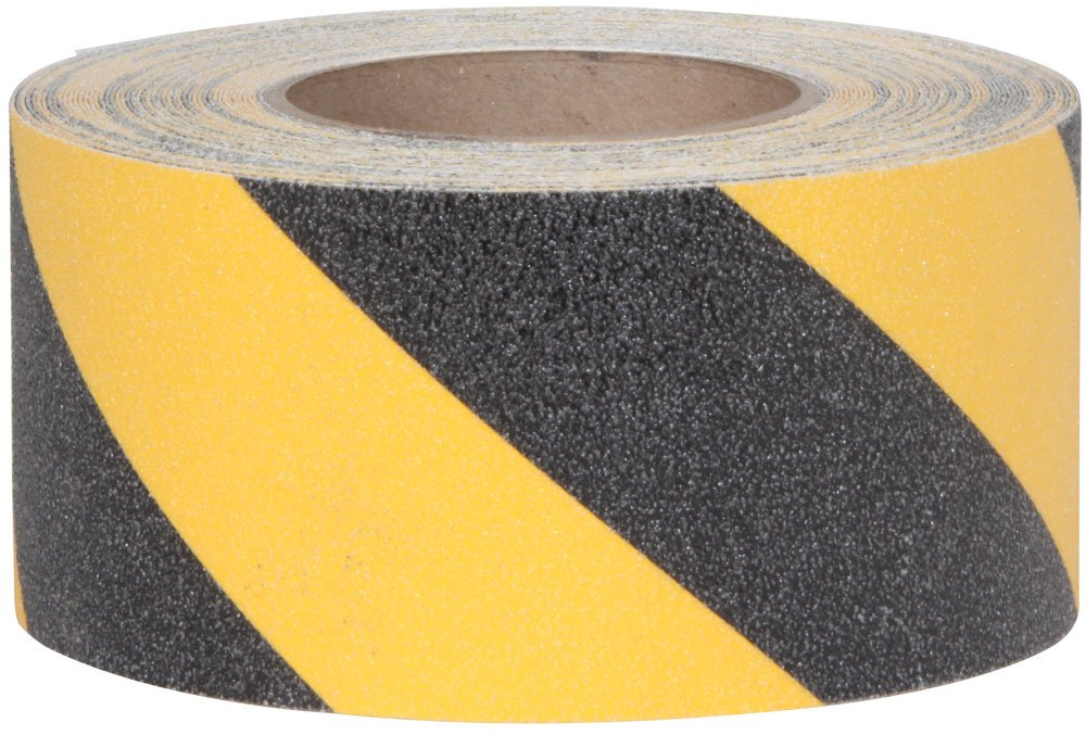 Jessup Safety Track 3360 Commercial Grade Non-Slip High Traction Safety Tape (60-Grit, Yellow and Black Stripes, 3-Inch x 60-Foot Roll, Pack of 4)