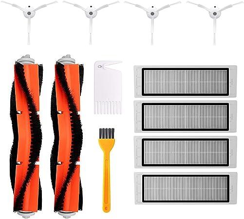 Jajadeal Accesorios para Xiaomi Mi Robot Aspirador, 4 Cepillo Lateral, 2 Cepillo Principal, 4 Filtro HEPA, Repuestos para Xiaomi MI Mijia Robot Roborock Vacuum Cleaner Aspiradoras: Amazon.es: Hogar