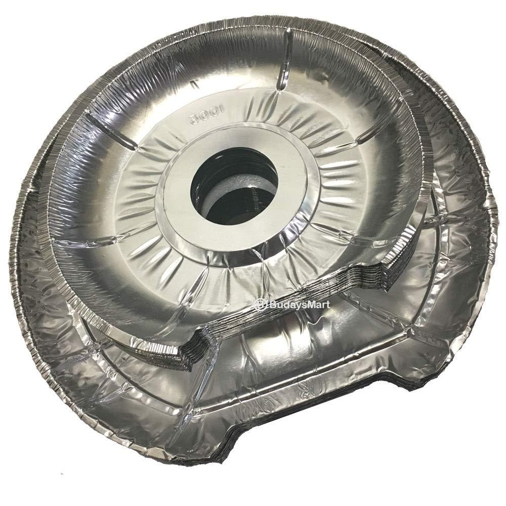 ガスまたは電気レンジストーブ 使い捨て丸型ホイルバーナーライナー 22~11枚パック L 11枚 S アルミアルミ箔カバー 交換用 ビブ   B07KXBHN7S