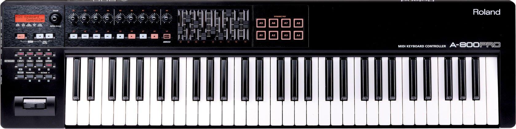Roland 61-key MIDI Keyboard Controller, black (A-800PRO-R) by Roland