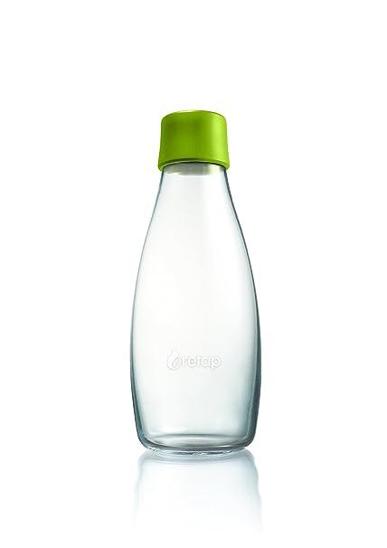 Retap ApS Botella de Vidrio de borosilicato, pequeña, Verde (Forest Green),
