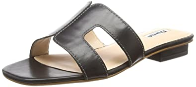Loupe, Tongs Femme, Noir (Black Leather Black Leather), 37 EUDune London