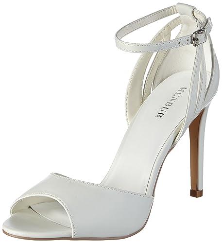 Menbur WeddingAnaid Sandali con Cinturino alla Caviglia Donna Avorio ivoire