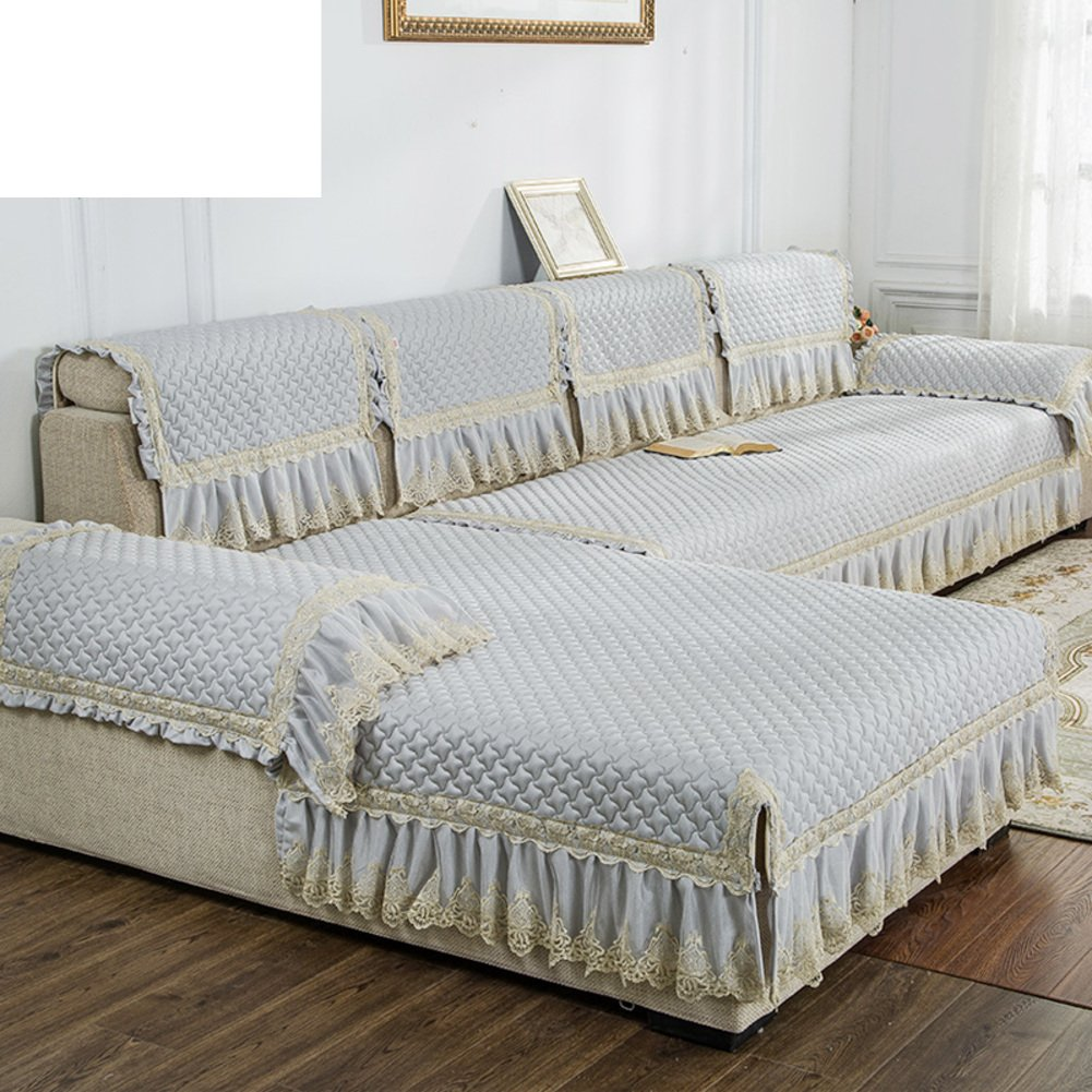 Anti-slip general fabric Thick sofa cushion Full pack cushion towel-B 110x210cm(43x83inch)