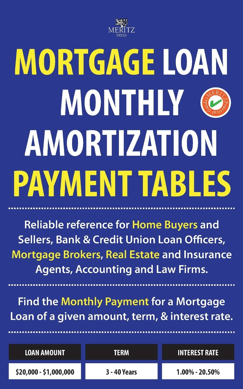mortgage loan monthly amortization payment tables easy to use