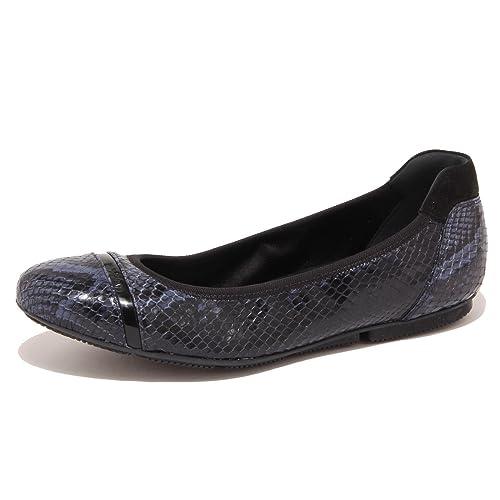 5869O ballerine HOGAN WRAP blu/nero scarpa donna shoe woman