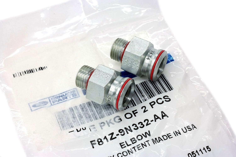 (2) 7.3L Diesel Engine, High Pressure Oil Pump (HPOP) Fittings At Cylinder Head Ford