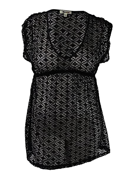 1693375ec1c06 Image Unavailable. Image not available for. Color: Miken Juniors Crochet  Empire-Waist Cover-Up ...