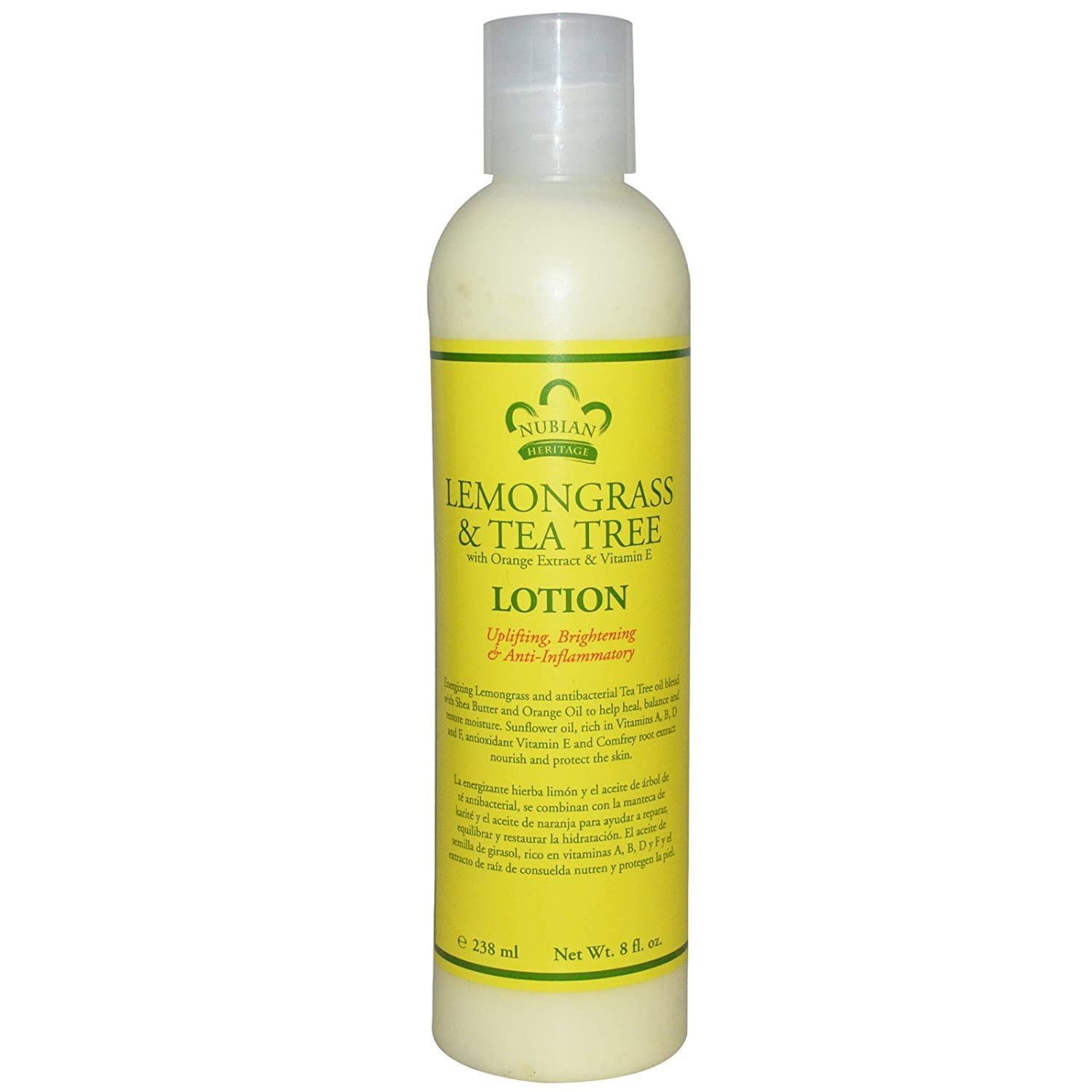Amazon.com: Nubian Heritage Lemongrass & Tea Tree Body Lotion and Shea Butter Bundle, 13 oz and 4 oz: Beauty