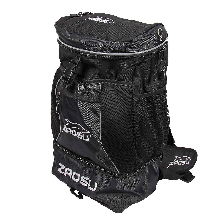 ZAOSU - Mochila de triatlón y natación (45 L, con Compartimento para Ropa de natación después de competición o Entrenamiento), Negro: Amazon.es: Deportes y ...