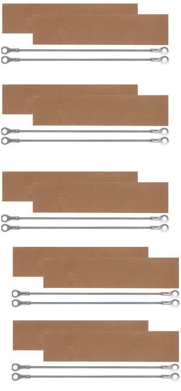 Replacement Elements for Impulse Sealer PFS-500 20'' (10 Heating Elements 3mm+10 Teflon Sheet + 10 Fuses