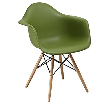 SuperStudio lo+demoda Dimero Color Edition Silla, Madera, Verde Caqui, 107x54.5x60 cm, 2 Unidades